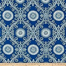 Waverly Sun N Shade Reflective Indigo Fabric By The Yard
