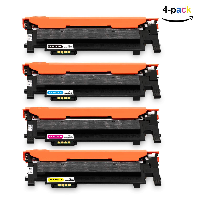 ONINO Toner CLT-406 per Samsung Toner CLT-K406S CLT-C406S CLT-M406S CLT-Y406S Compatibile con Samsung SL-C460W CLT-P406C CLP-360 CLP-360N CLP-365 CLP-365W CLP-368 CLX-3300 CLX-3305 CLX-3305FN CLX-3305FW SL-C460FW SL-C467W (1 Nero, 1 Ciano, 1 Magenta, 1 Gia