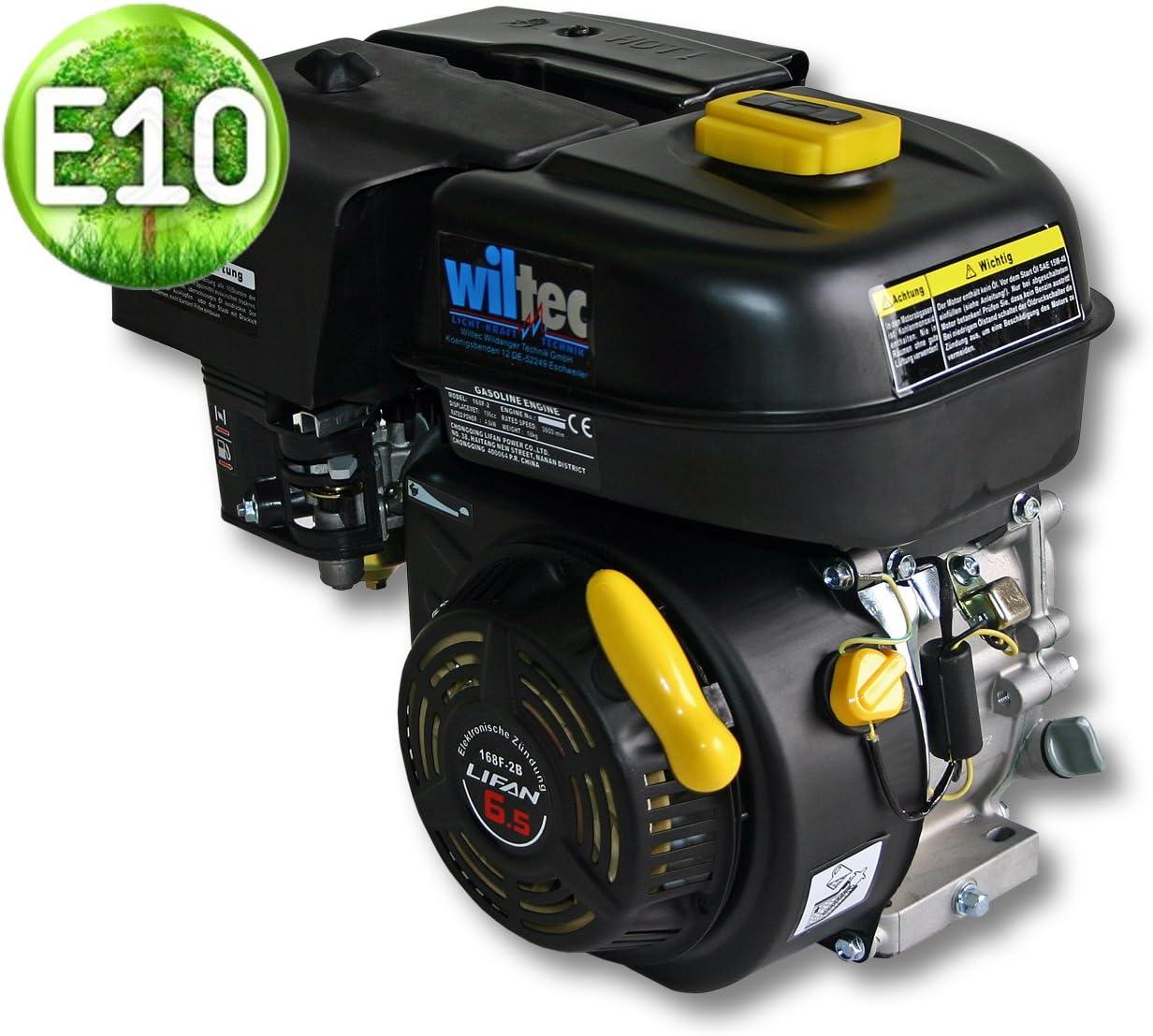 WilTec Motor de Gasolina LIFAN 168 4,8kW (6,5PS) Motor para Karts de 20mm