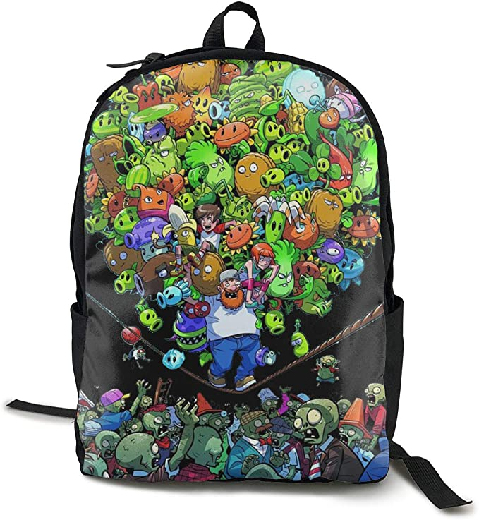 Lemonnnen Plants Vs. Zombies Lightweight Teenager Unisex Backpack Black