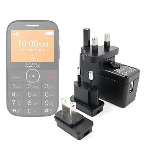DURAGADGET Kit De Adaptadores con Cargador para Alcatel One ...