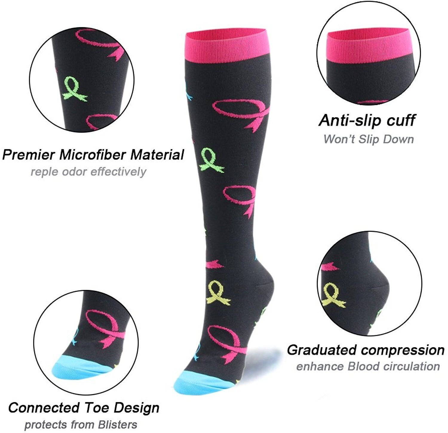 Assorted 1 Compression Socks for Women /& Men-3//6 Pairs Best Graduated Athletic Fit for Running,Nurses,Flight Travel,Pregnancy,Circulation/&Recovery 20-25mmhg , Large//Extra Large 6 Pairs