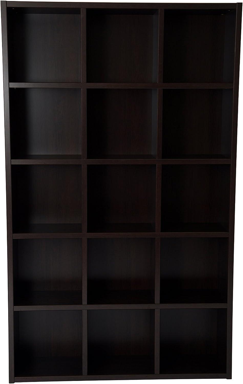Boraam Techny Collection Kline Hollow Core Bookcase, Espresso