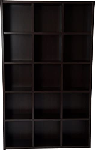 Boraam Techny Collection Kline Hollow Core Bookcase, Espresso