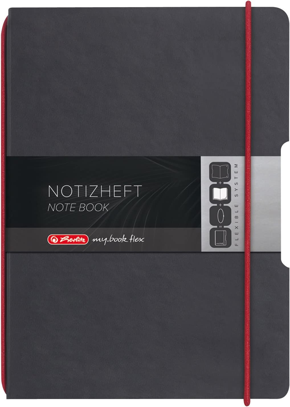 Herlitz A4 My Book Flex Leather Like Cover Notebook Red