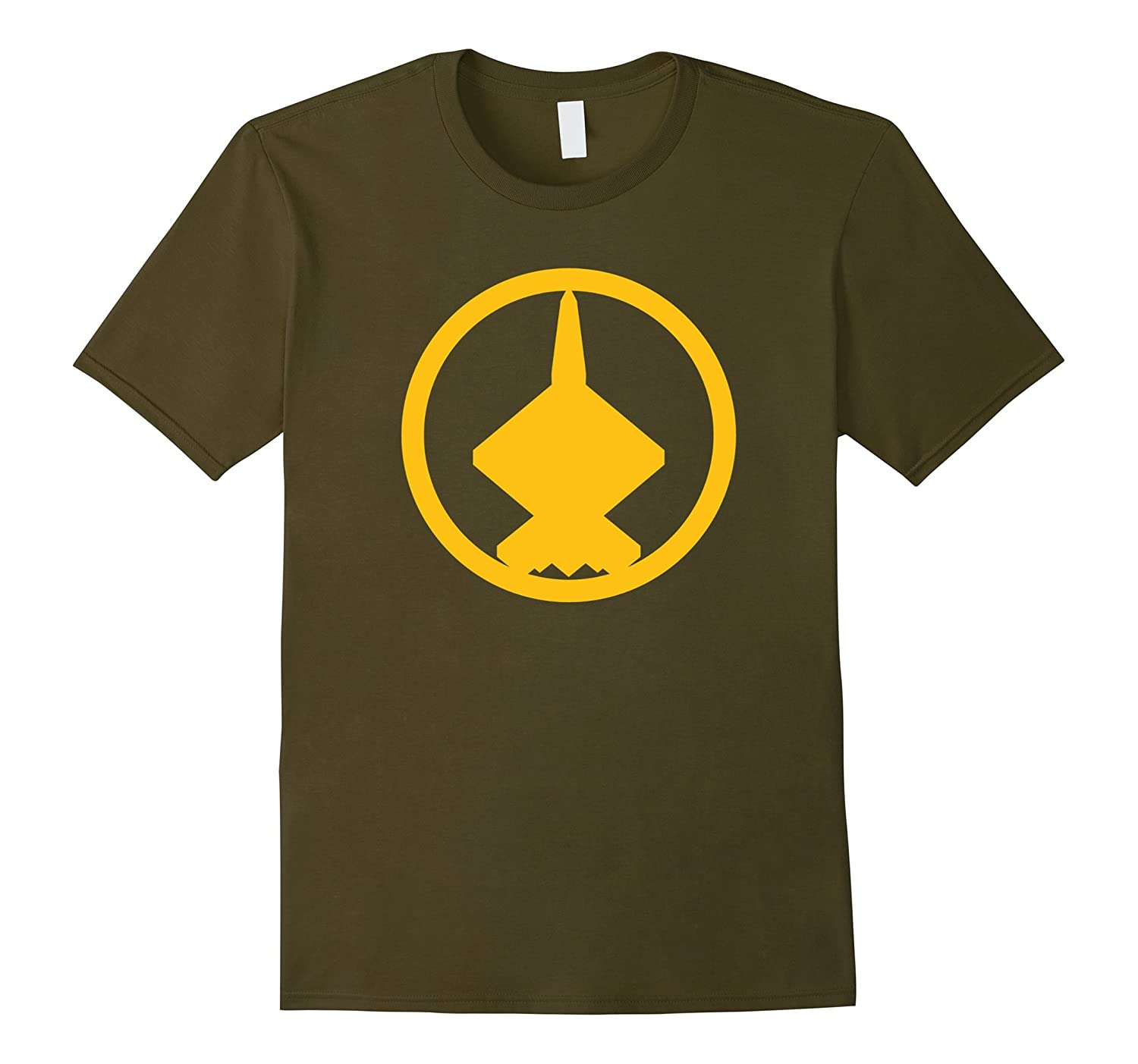 YF-23 (Yellow) Air Force Military Fighter Jet T-Shirt-T-Shirt