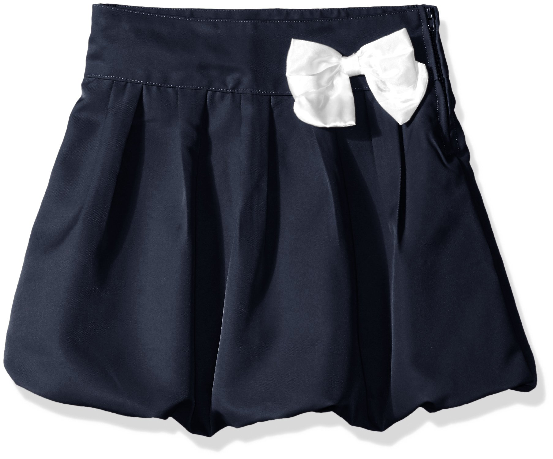 Cherokee Big Girls' Uniform Skirt with Hidden Short, Pleated Navy, 16