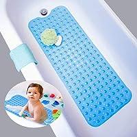 Nifogo Alfombra de bañera Antideslizante, Alfombrilla para Bañera, Antibacterial, Extra Larga, con Ventosas de Alto…