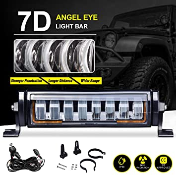 Amazon autosavre88 8 12 osram led light bar with wiring autosavre88 8quot 12quot osram led light bar with wiring harness 72w 7200lm asfbconference2016 Images