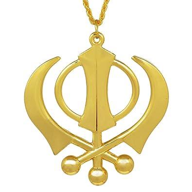 Buy Cardinalhigh Gloss Brass Sikh Sardar Khalsa Punjabi Khanda