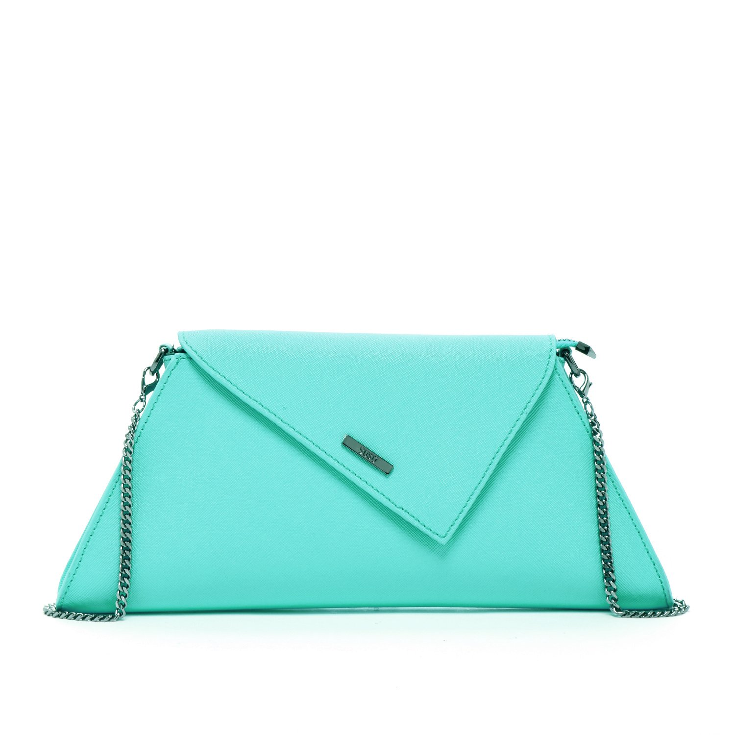 Clutch Purse Summer Clutches for Women Envelope Handbags Turquoise Dressy Leather Evening Bag Prom Party Purses with Chain Strap Mint Green Wedding Crossbody Aqua Fashion Designer Bridal Hand Pouch