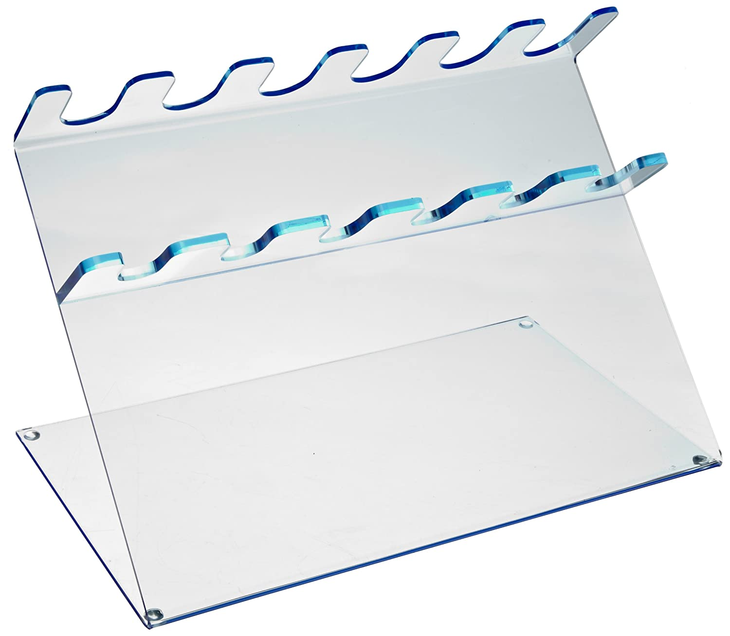 Heathrow Scientific HD20613C 6 Place Pipettor Station, Acrylic, Blue Fluorescent HS20613C