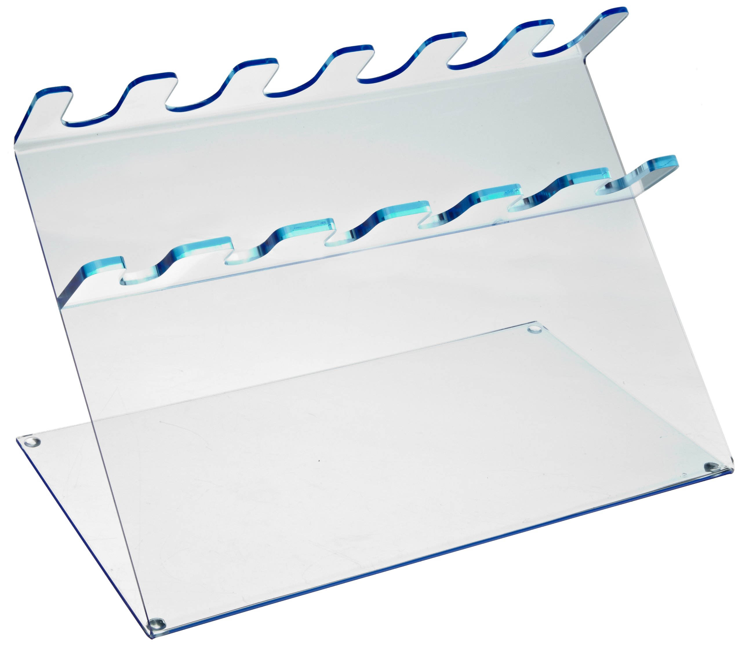 Heathrow Scientific HD20613C Blue Fluorescent Acrylic 6 Place Pipettor Station by Heathrow Scientific
