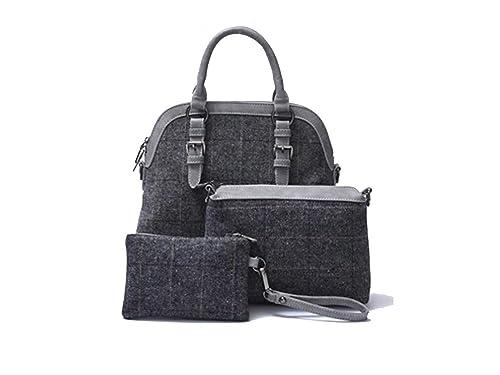 La Loria Bolsas para mujeres set 3 piezas Grey Star bolso de ...