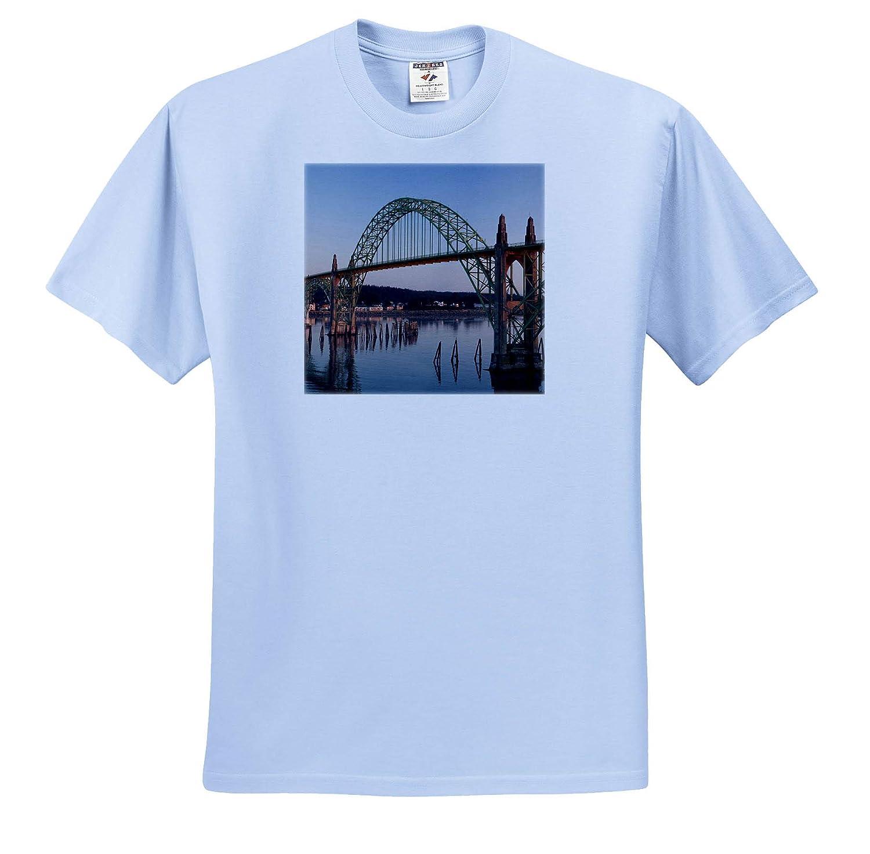 Oregon Yaquina Head Bridge at Sunrise Newport Oregon - Adult T-Shirt XL ts/_314971 3dRose Danita Delimont USA