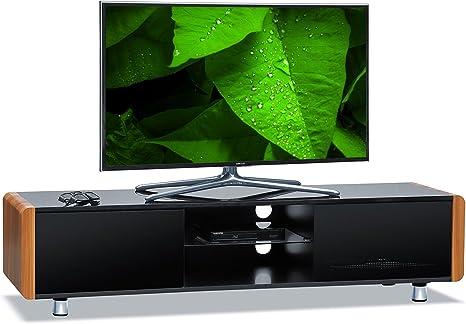 Mueble de televisión Centurion Capri negro brillante para control remoto de televisiones planos de 32-65 pulgadas, mueble de televisión: Amazon.es: Electrónica
