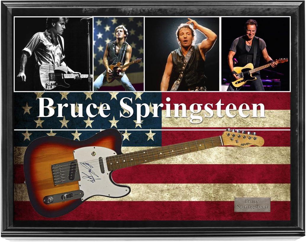 Bruce Springsteen firmada Sunburst tele estilo guitarra w pantalla ...