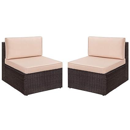Incredible Amazon Com Devoko 2 Pieces Patio Furniture Sets All Weather Creativecarmelina Interior Chair Design Creativecarmelinacom