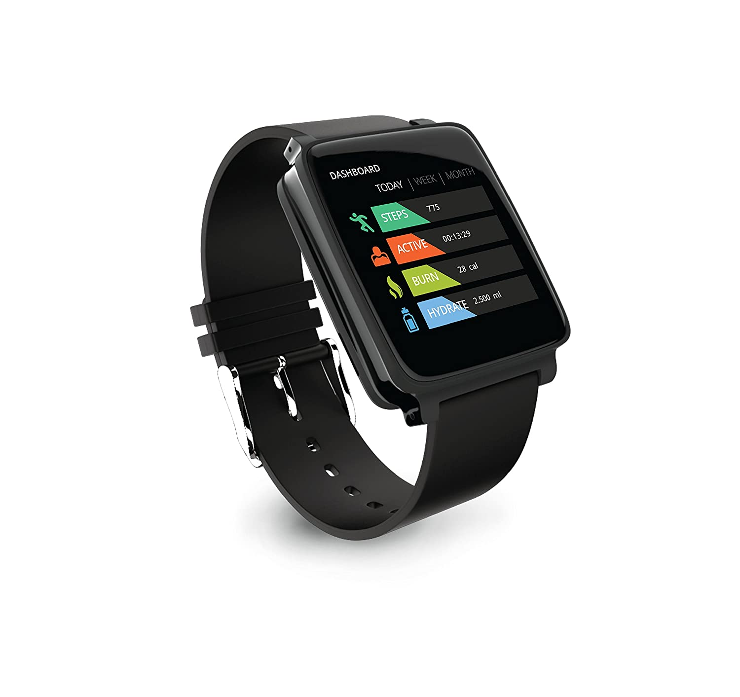 Hug Smart Watch for Android- Midnight Black