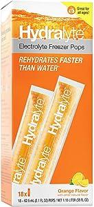 Hydralyte Electrolyte Hydration Freezer Pops (Orange, 18)