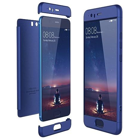 CE-Link Funda Huawei P10 Plus, Carcasa Fundas para Huawei P10 Plus, 3 en 1 Desmontable Ultra-Delgado Anti-Arañazos Case Protectora - Azul