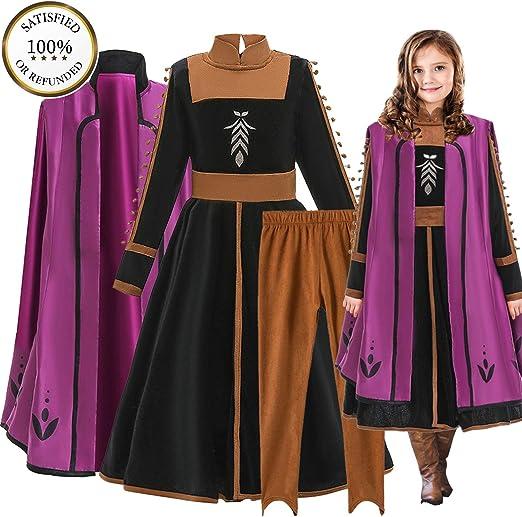 O³ Anna Princesa Vestido - Disfraz de Princesa Anna - 110-150 cm ...