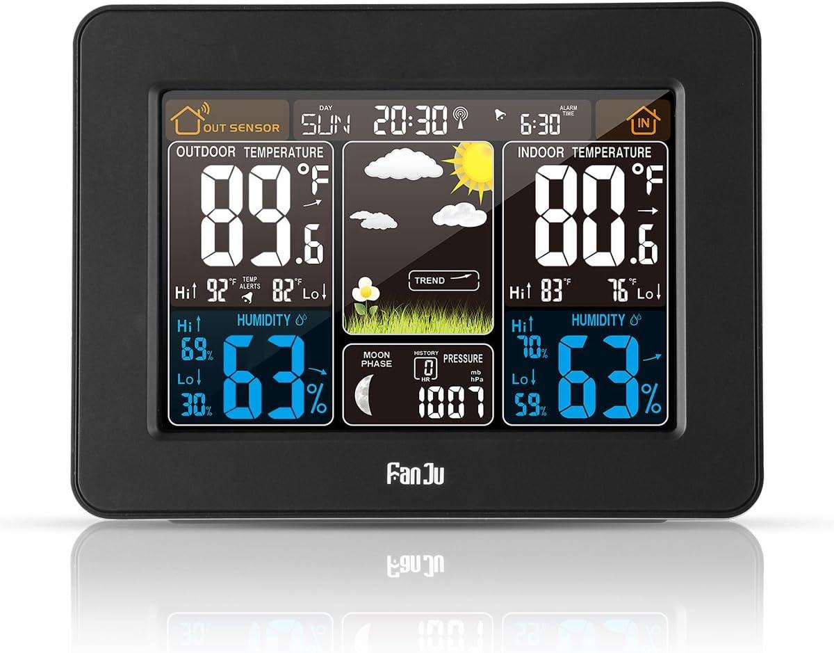 Amazon.com : FanJu FJ3365B Digital Color Forecast Weather ...