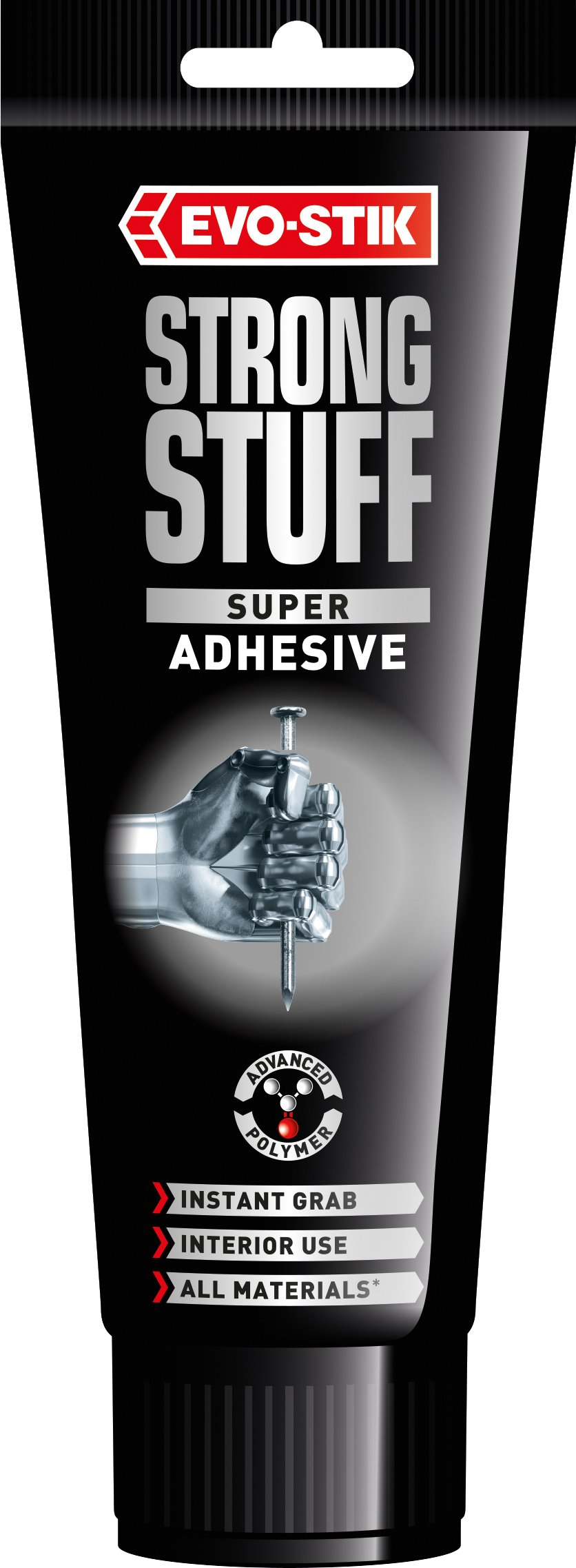 Evo-Stik Strong Stuff Super Grab Adhesive Interior 200Ml Squeeze Tube 30813037