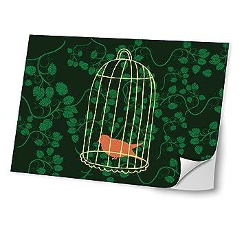 Jaulas de Pájaros 10008, Diseño Mejor Pegatina de Vinilo Protector ...