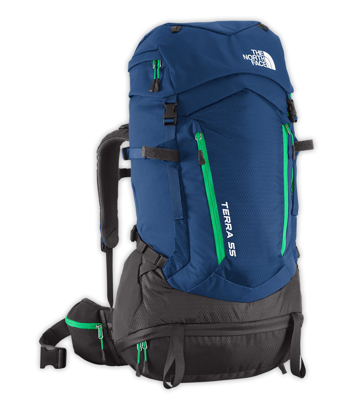 The North Face Terra 55バックパックYouth ONE SIZE Estate Blue/Blarney Green B014ID9VT0