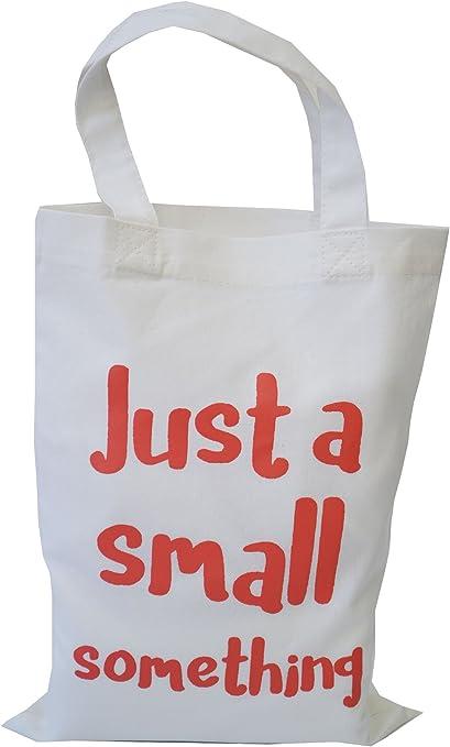 Único color blanco algodón pequeña bolsa de regalo. Algo ...