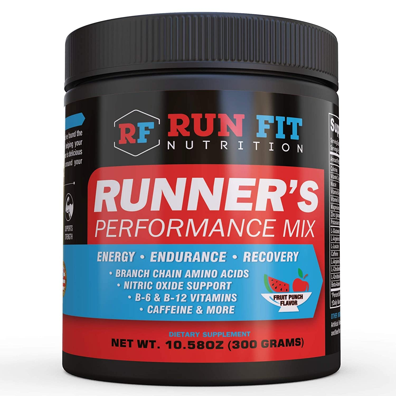 Runner s Performance Mix – Energy Endurance Drink Mix – Running Pre Workout or During Run – B Vitamins, BCAAs, Caffeine More Made in The USA