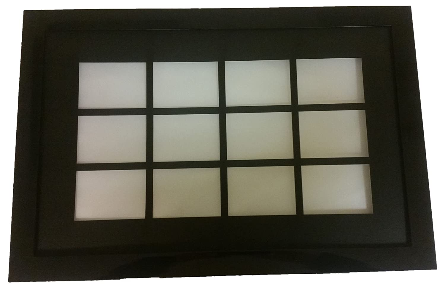 Frame for 12 x Trading Cards (90 mm x 65 mm) Black Finish Robin Hood Direct