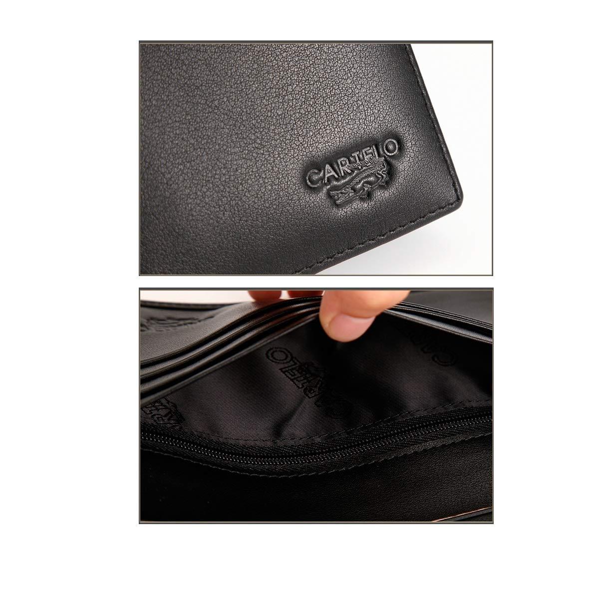 Kalmar RFID Travel Wallet 2 ID Window RFID Wallet Men Color : Blue Gift of Love Extra Capacity Travel Wallet Double Fold Flip Extra Capacity Travel Wallet