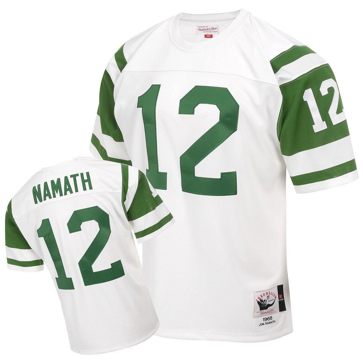 ... Amazon.com Mitchell Ness New York Jets 1968 Joe Namath Authentic  Throwback White Jersey Size ... 550a92ebd