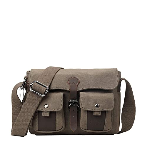 ebb664868 Troop London Heritage Canvas Leather Small Messenger Bag TRP0434 (Olive):  Amazon.co.uk: Shoes & Bags
