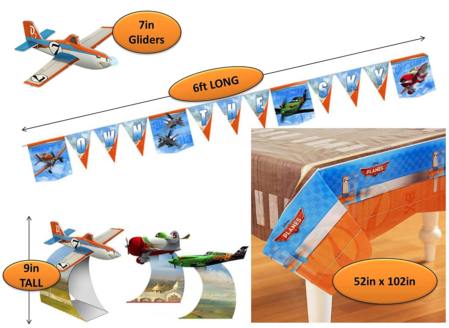 Amazon.com: Disney Planes Birthday Kit Plates, Cups, Napkins ...