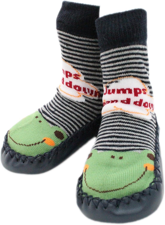 Chaussons B/éb/é Petits enfants Kids Chaussures dint/érieur chaussettes chaussettes antid/érapantes pour b/éb/é-Motif Grenouille