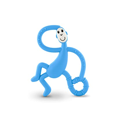 Matchstick Monkey Dancing Monkey Teether - Teething Toy (Light Blue) : Baby