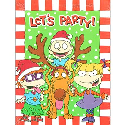 Rugrats Christmas.Amazon Com Rugrats Christmas Invitations W Envelopes 8ct