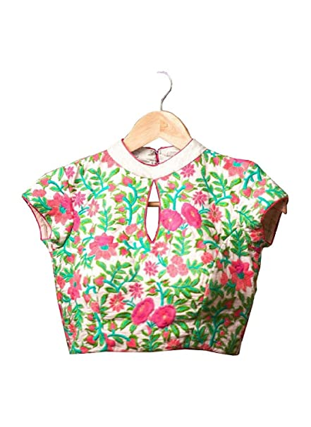 5c009899ceab1 Fabboom Latest Multi Colour Beautiful Designer Blouse Only Material   Amazon.in  Clothing   Accessories