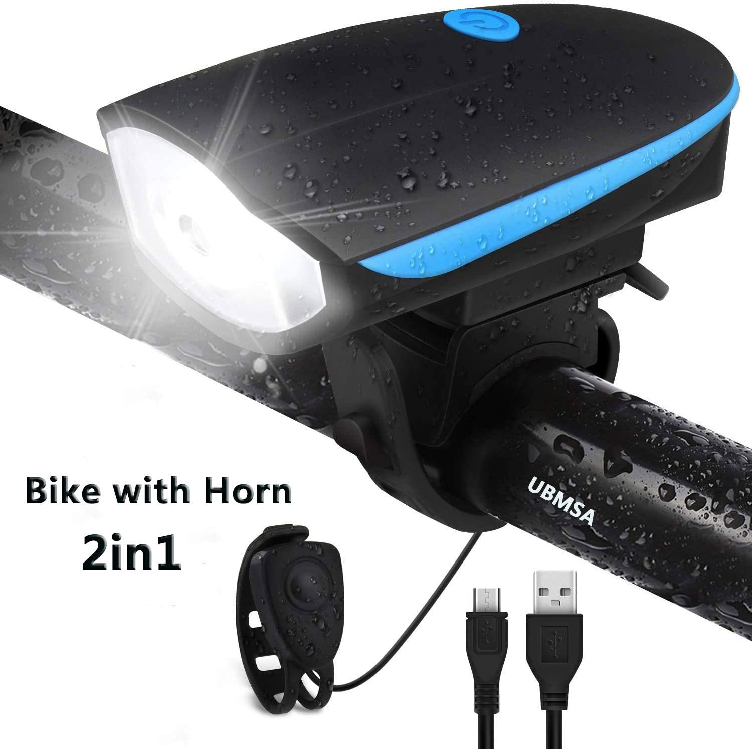 Road /& Mountain Bike 3Pack Bike Front Lights for All Bicycles USB Rechargeable
