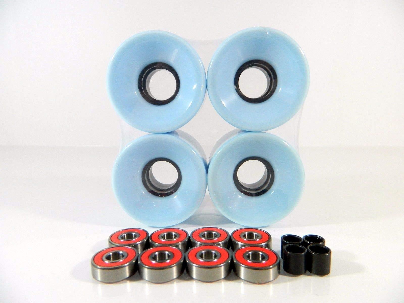 Creamy Blue 52Mm Formula V4 Skateboard Wheels White