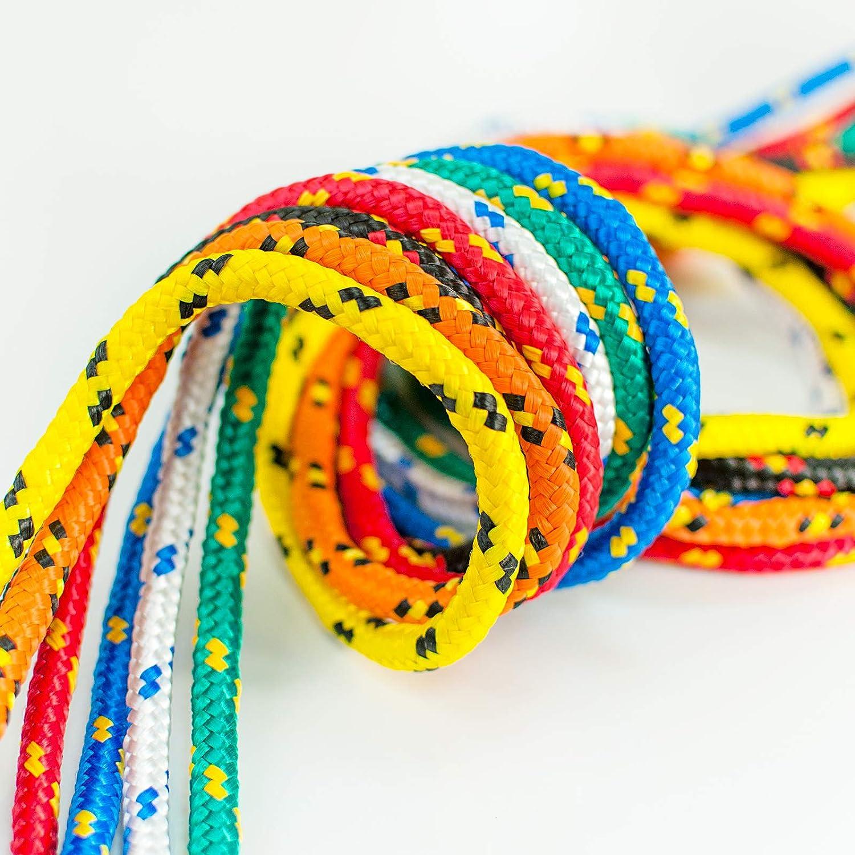 Cuerda de Amarre 100/% natural DQ-PP Cuerda de Polipropileno Grosor 2 mil/ímetros Rollo de Soga Verde multiusos Longitud 15 metros