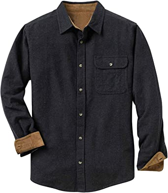 Flygo Mens Pure Cotton Long Sleeve Button Up Military Work Shirt