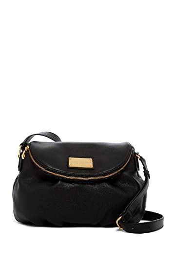 e380fba286db Marc Jacobs Classic Leather Messenger Bag (Black)  Amazon.ca  Shoes    Handbags