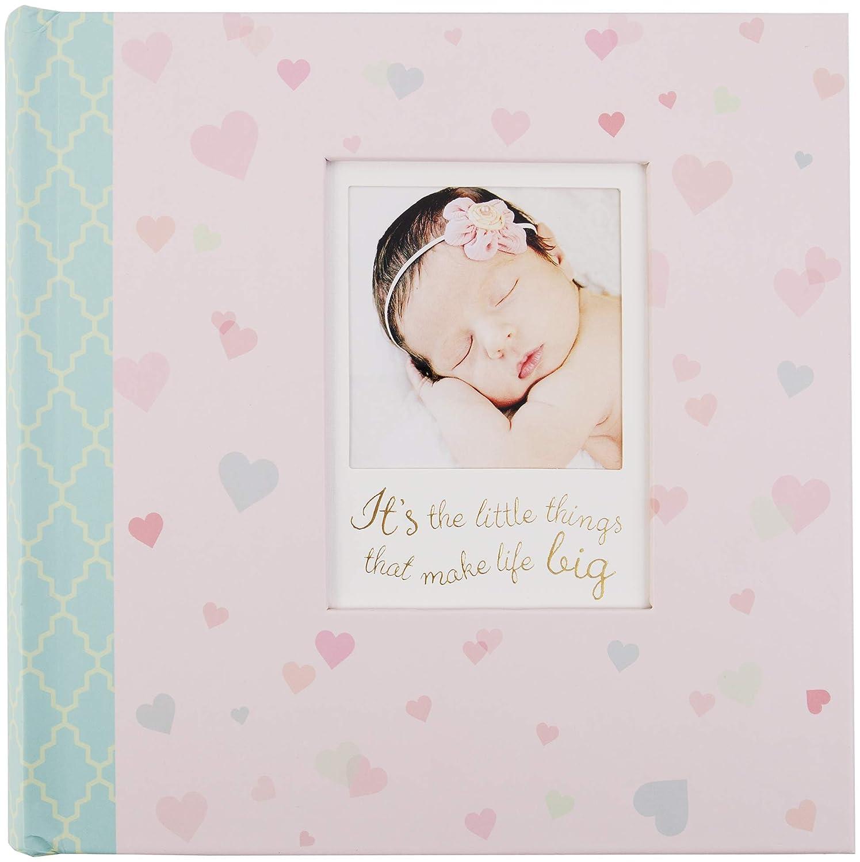 C.R. Gibson Little Love Baby Girl Photo Album, 9 x 8.125