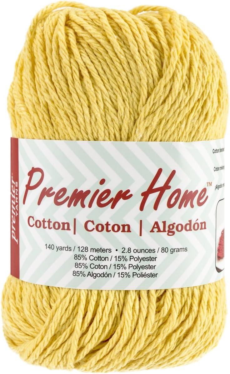 Premier Yarns Home Cotton Yarn, Solid Yellow