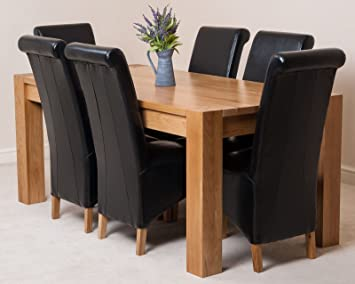 Admirable Kuba Solid Oak Dining Table With 6 Or 8 Montana Chairs Black 6 Home Interior And Landscaping Ologienasavecom
