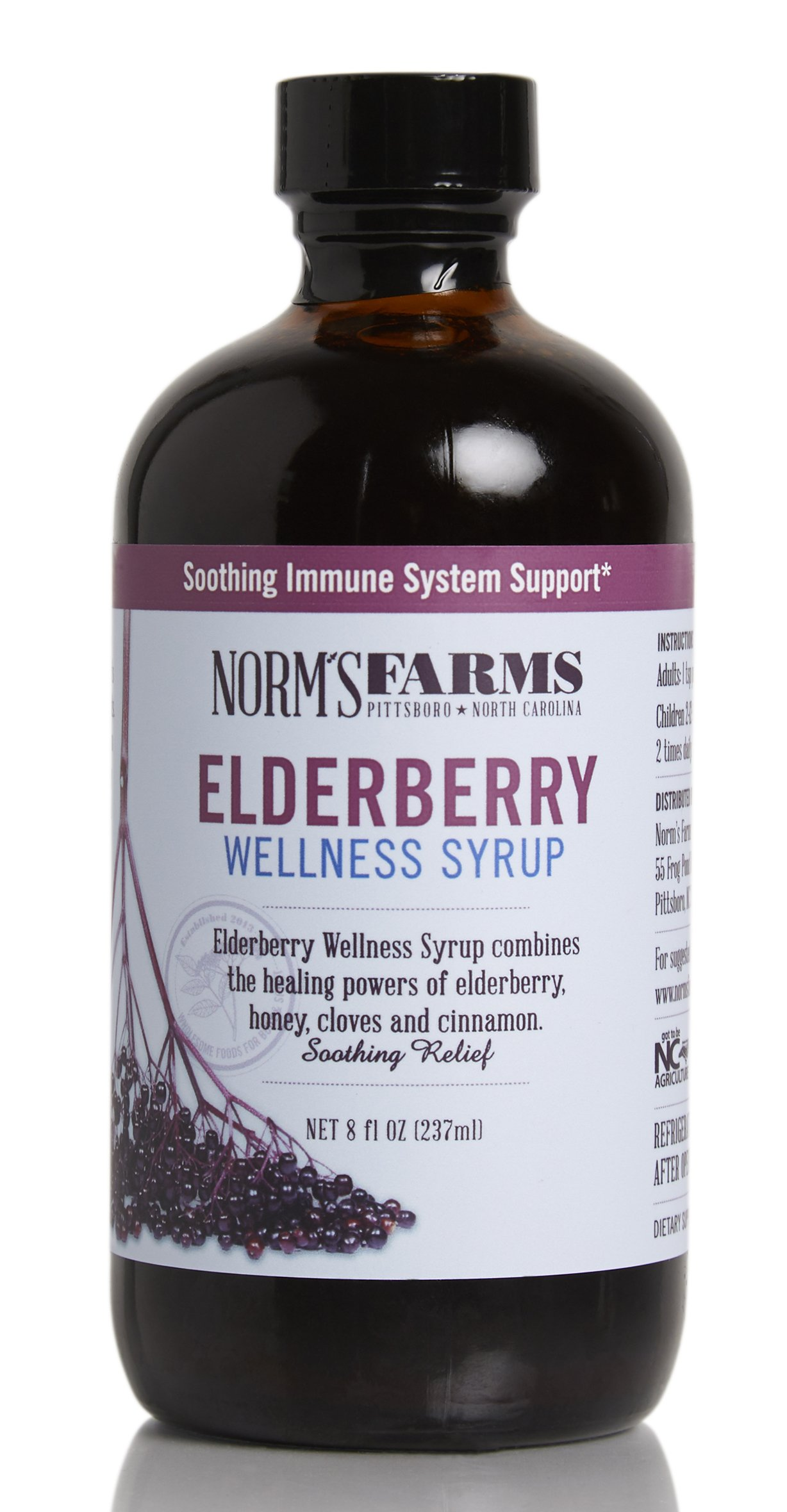 641555528c6b Norm s Farms Natural and Soothing Black Elderberry Wellness Syrup